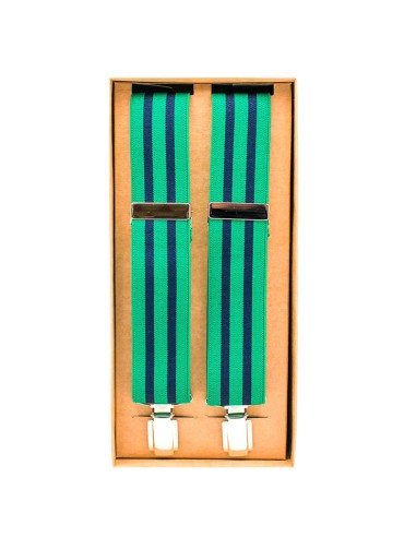 Tirantes 2 rayas azul-verde
