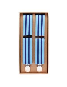 Tirantes Rayas Celeste- Azul Marino X